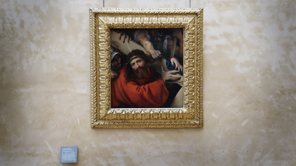 --- Christ Carrying the Cross by Lorenzo Lotto in the Renaissance period was among my favourite pieces there. The pained look on His face was surreal.