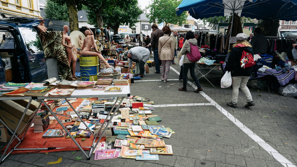 --- Then you have the flea market with all sorts of stuff in the next street.