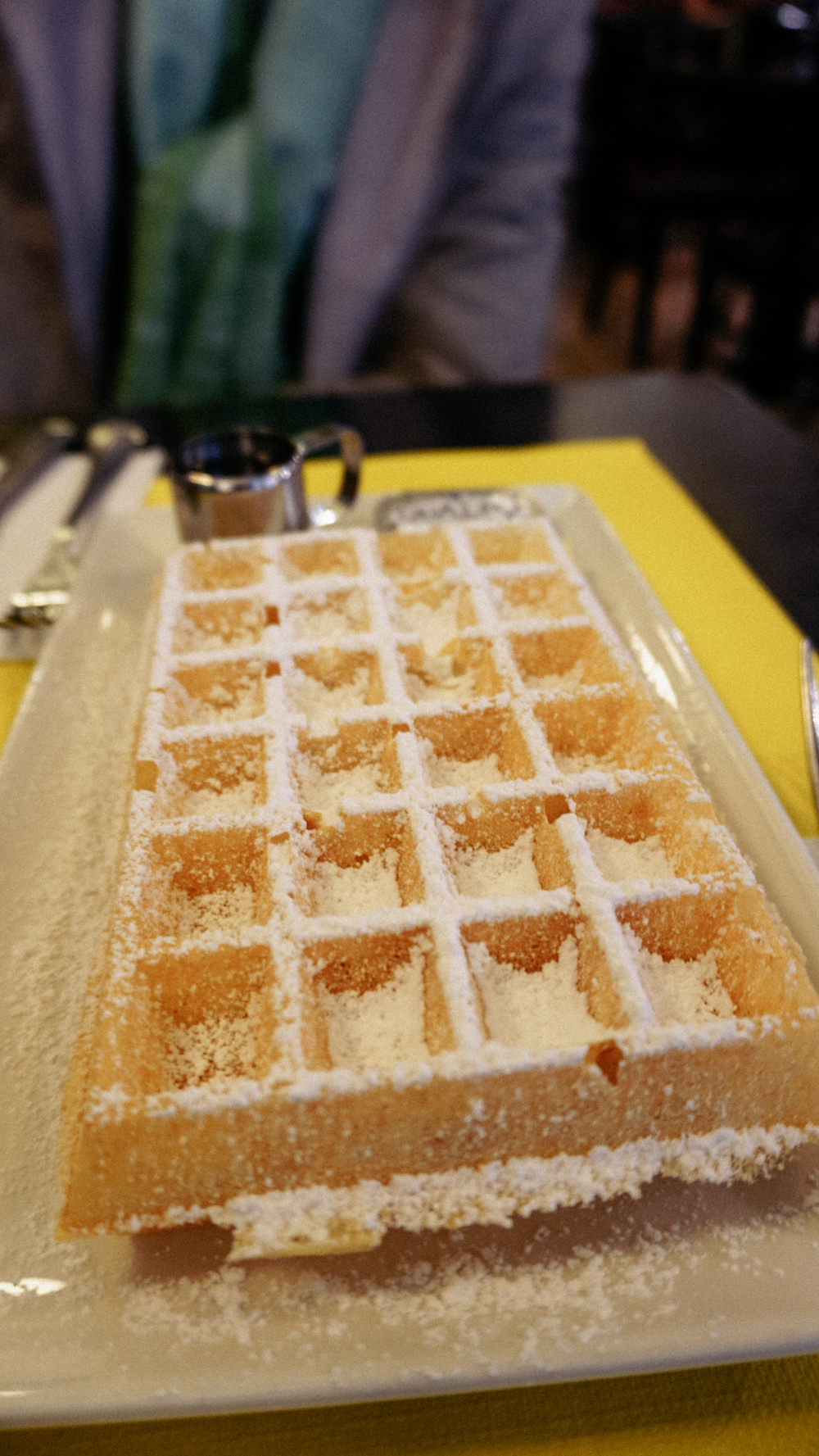 --- Behold - the best waffles I've ever had in my life. No cream or fruits or any fancy toppings - just slightly crisp on the outside and fluffy on the inside - perfect.
